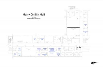 Harry Griffith Hall Map