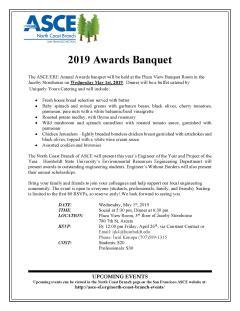 ASCE Awards Banquet May 1, 2019